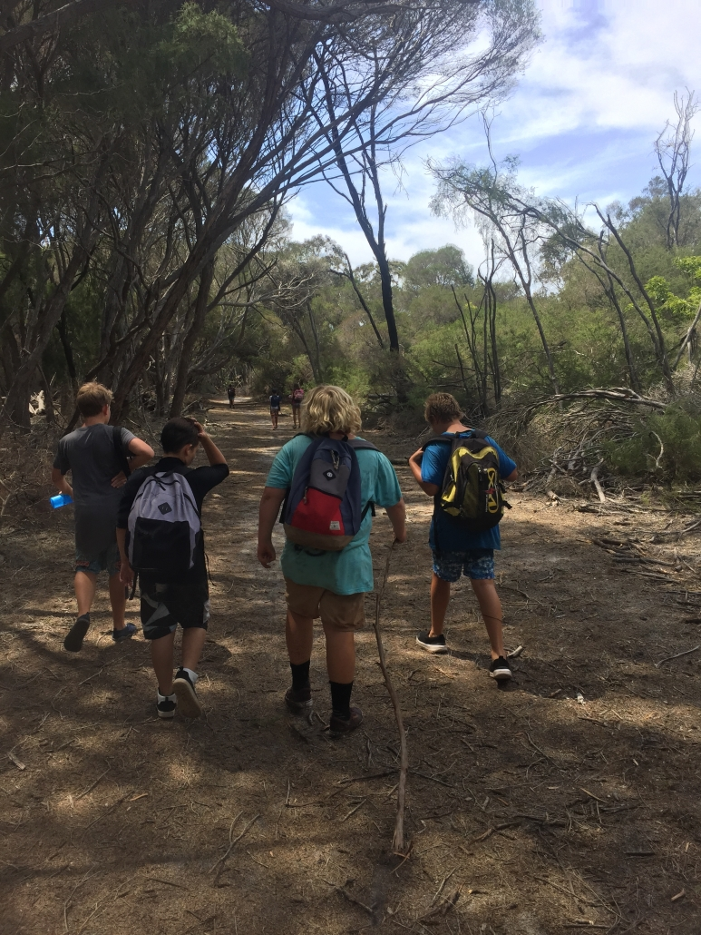 Narooma HS 2017 a great day for a walk in the Bournda National Park