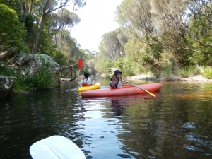 Kayaking on Bournda Lagoon