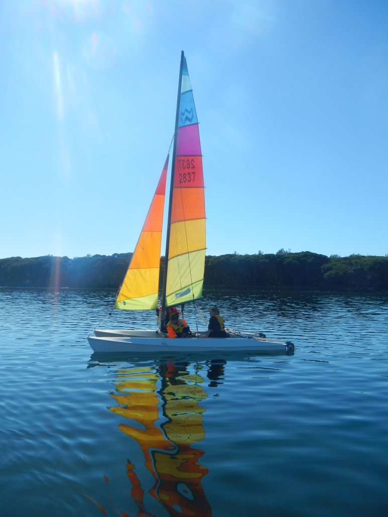 Sailing Wallagoot Lake