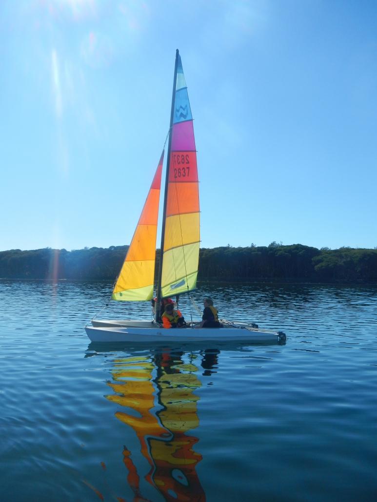Sailing Wallagoot Lake