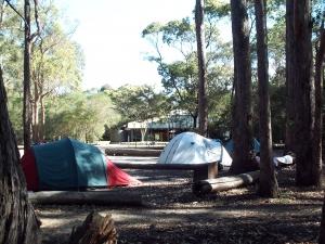 Camping at Hobart beach