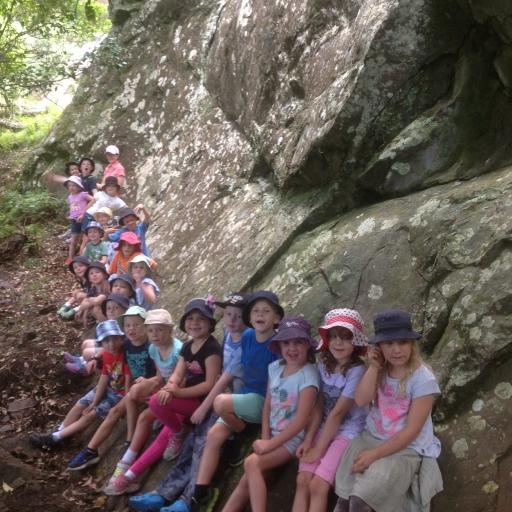 Students exploring Bournda