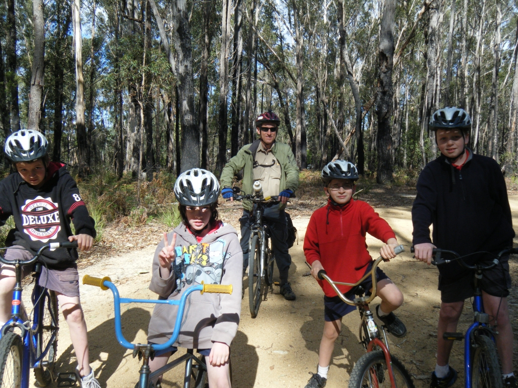 Bike riding Bournda NP