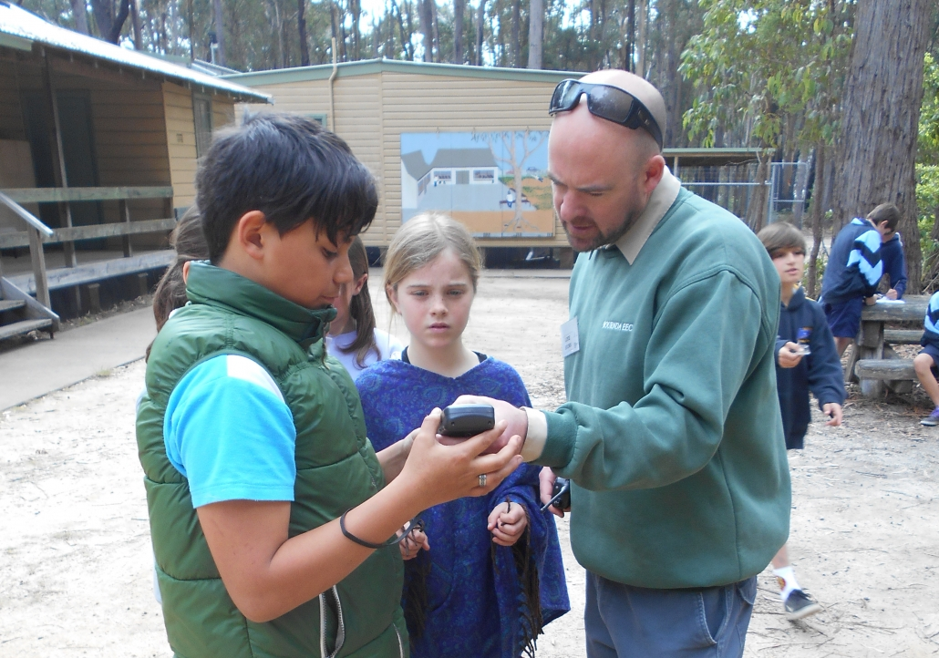 Learning to use the GPS- Numeracy & Geocaching