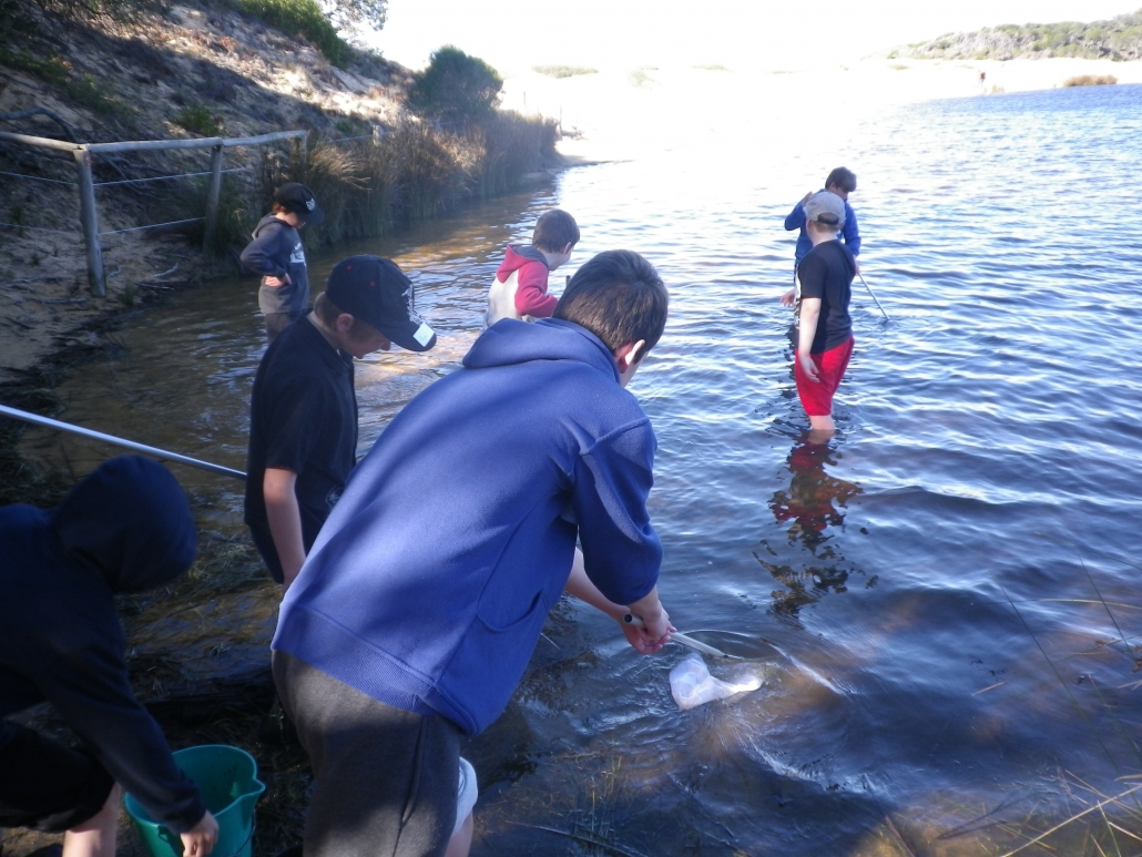Dip netting at the Lagoon