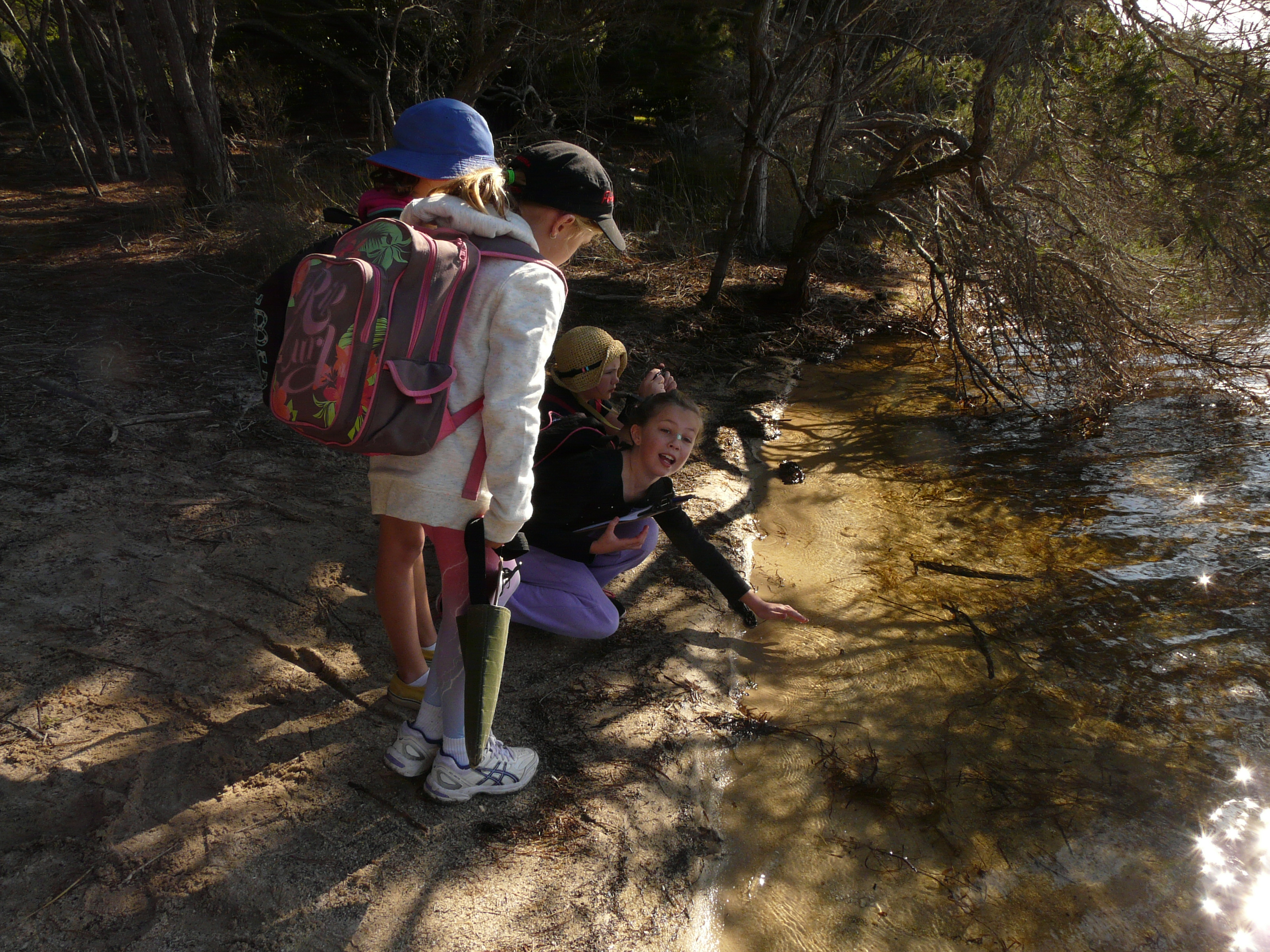 Students at Wallagoot Lake