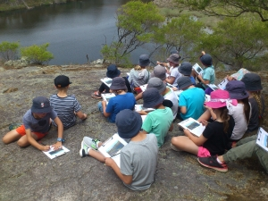 Stage 2 students in Bournda National Park