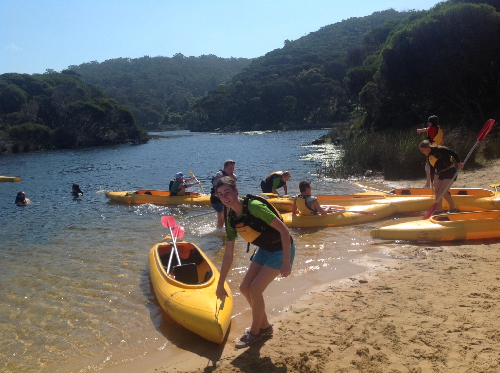 CDAT camp kayaking