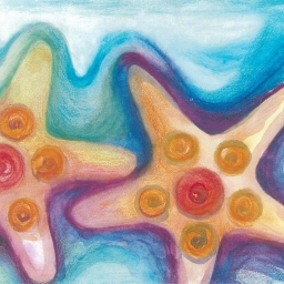 artwork of starfish