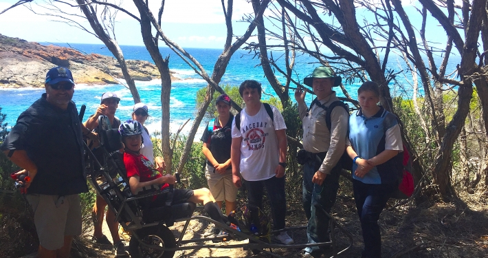 Bushwalking students