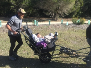 Using the TrailRider to explore Bournda National Park