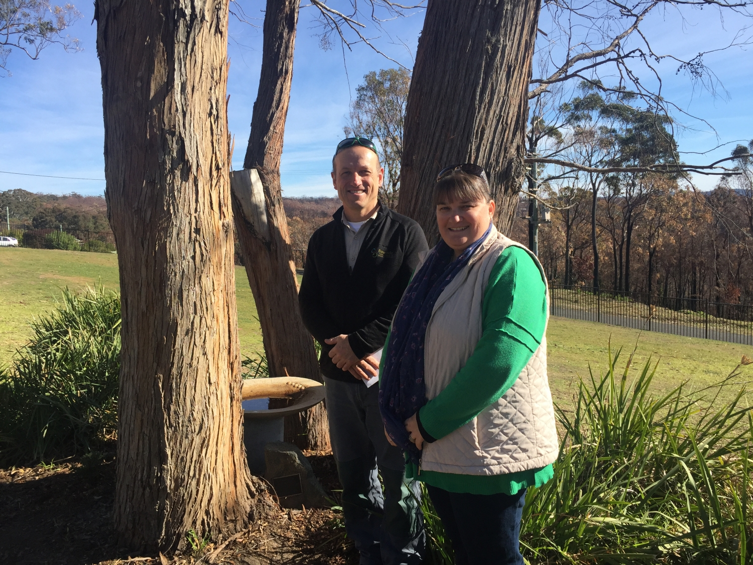 Teachers on National Schools Tree Day at Tathra Public School