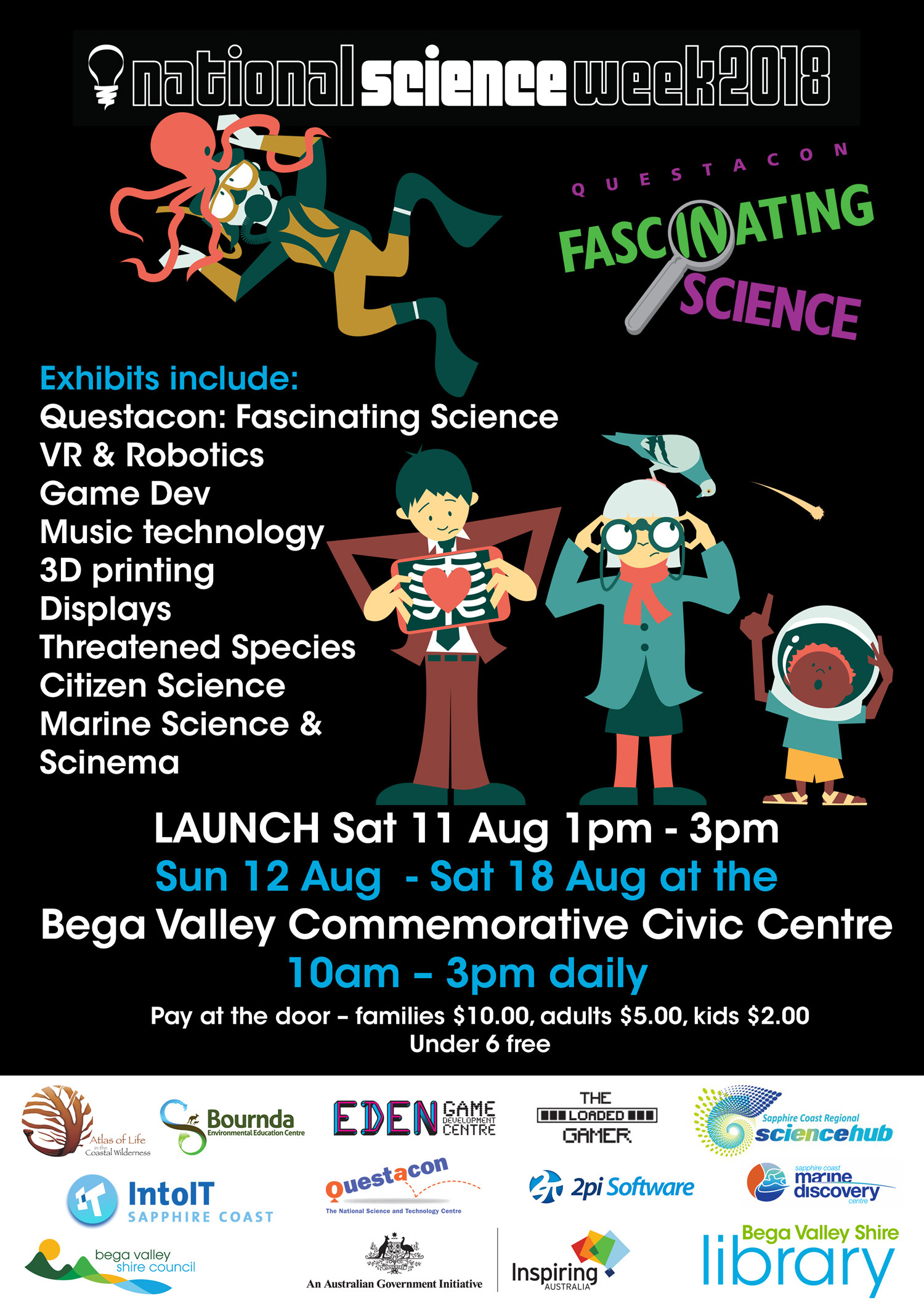 Sapphire Coast Science Festival 2018 Poster