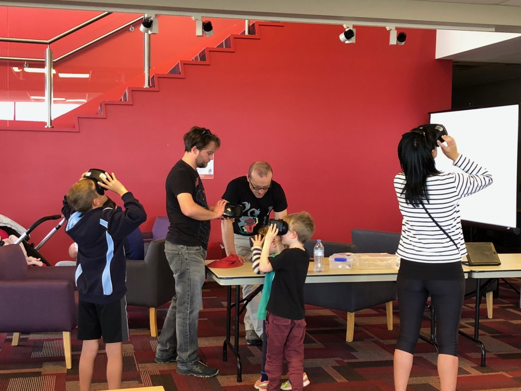 Bournda EEC staff guiding a Google Expedition using the STEMShare VR Primary kit