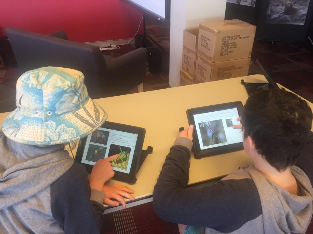 Bournda iPads in use with iBooks