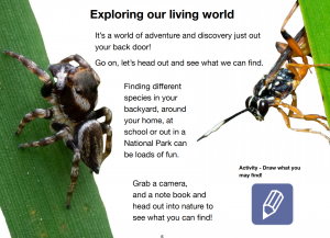 A page from the Exploring and Mapping our living world ibook